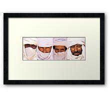 Saharan Faces (ALGERIA) Framed Print