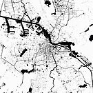 Amsterdam Map White by duzhd