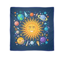 Funny Solar System Isometric Scarf