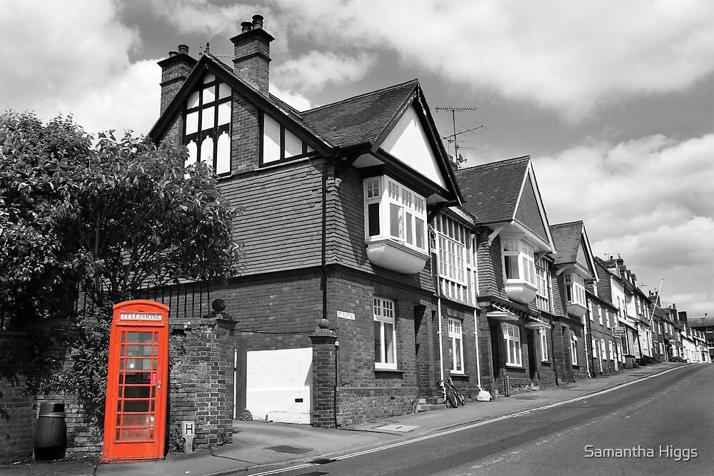 Red Telephone Box - Marlborough by Samantha Higgs