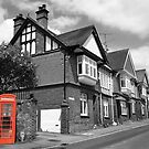 Red Telephone Box - Marlborough by Samantha Higgs
