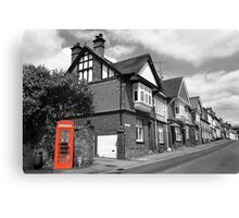 Red Telephone Box - Marlborough Canvas Print