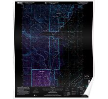 USGS Topo Map Oregon Sycan Marsh West 281733 2004 24000 Inverted Poster