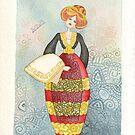 Illustration, Albanian traditional costume 1of Piana degli Albanesi by vimasi
