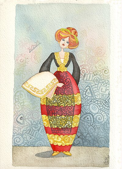 Illustration, Albanian traditional costume 1of Piana degli Albanesi by vimasi