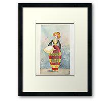 Illustration, Albanian traditional costume 1of Piana degli Albanesi Framed Print