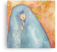 Lighea - Girl with blue veil Canvas Print