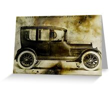 1914 Cadillac Limousine Greeting Card