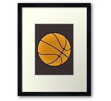 Basketball Vector Framed Print