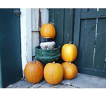 Fall Pumpkin Harvest Photographic Print