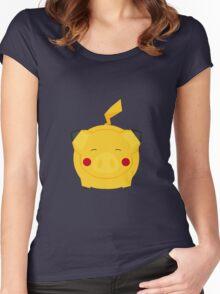 Pigachu an electric little piggy Women's Fitted Scoop T-Shirt
