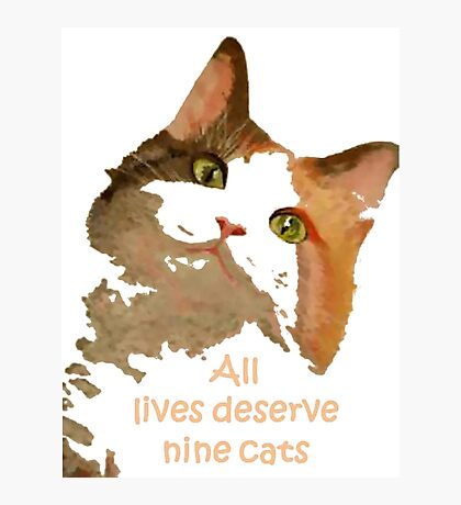All Lives Deserve Nine Cats Photographic Print