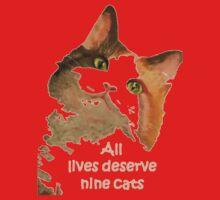 All Lives Deserve Nine Cats One Piece - Short Sleeve