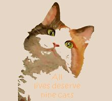 All Lives Deserve Nine Cats Womens Fitted T-Shirt