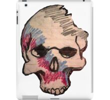 Sharpie and colored pencil skull doodle iPad Case/Skin