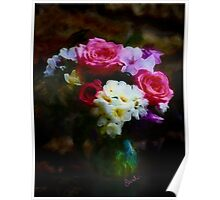 Pretty Vase of Flowers Poster