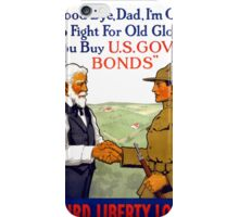 Third Liberty Loan Vintage WWI Poster Restored iPhone Case/Skin