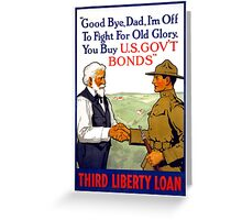 Third Liberty Loan Vintage WWI Poster Restored Greeting Card