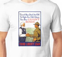 Third Liberty Loan Vintage WWI Poster Restored Unisex T-Shirt
