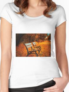 Autumn in the Park Women's Fitted Scoop T-Shirt