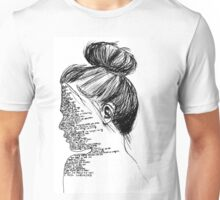 Black and White You Me At Six Lyrics Girl Unisex T-Shirt