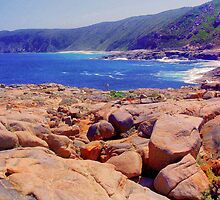 Rugged rocky shores of the south west by georgieboy98