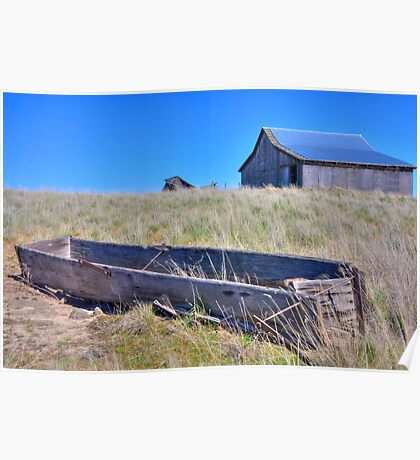 Homestead - Wood Water Trough Poster