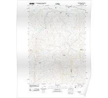 USGS Topo Map Oregon Hereford 20110822 TM Poster