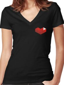 YouTube Gaming (Small) Women's Fitted V-Neck T-Shirt