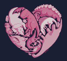 Loveasaurus One Piece - Short Sleeve