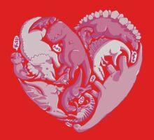 Loveasaurus One Piece - Long Sleeve