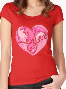 Loveasaurus Women's Fitted Scoop T-Shirt