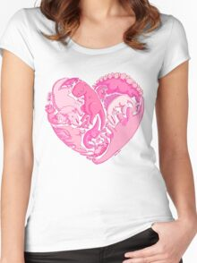 Loveasaurus Women's Fitted Scoop T-Shirt