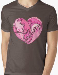 Loveasaurus Mens V-Neck T-Shirt