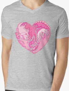 Loveasaurus Mens V-Neck T-Shirt