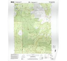 USGS Topo Map Oregon Rodman Rock 281303 1999 24000 Poster