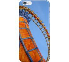 Rollercoaster in an amusement park iPhone Case/Skin