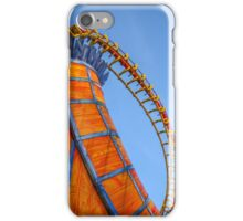 Rollercoaster in an amusement park iPhone Case/Skin