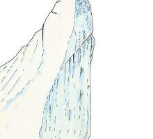 Gentoo Penguin jumping off an Iceberg by davethewave