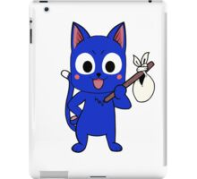 Anime cat and pack - blue iPad Case/Skin