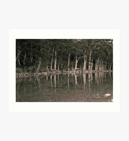 The Frio Reflection BW Art Print
