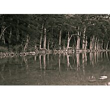 The Frio Reflection BW Photographic Print