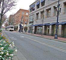 Tri - Mat MAX heads down a Portland City Street - Portland - Oregon by Jack McCabe