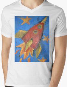 Pocket Rocket Mens V-Neck T-Shirt