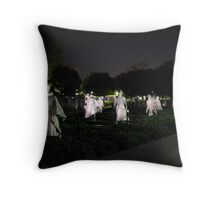 Ghost of a Police Action Throw Pillow