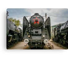 Old locomotive in a train museum Canvas Print