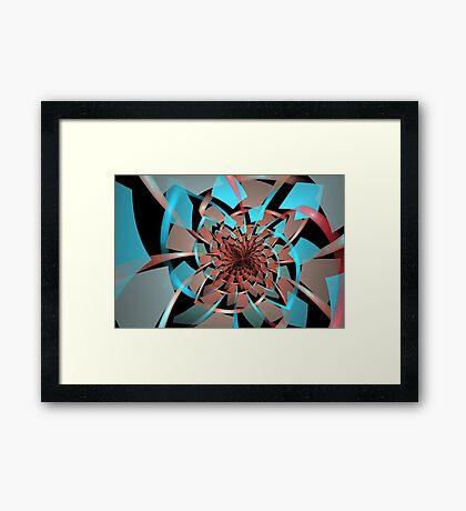 Portals Ruffled Tiles Framed Print