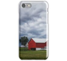 Stormy Skies and Red Barn iPhone Case/Skin