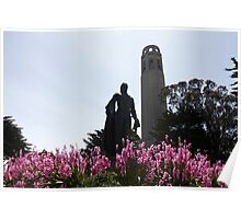 Coit Tower in Bloom Poster