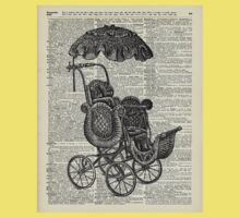 Antique Baby Pram over  100  Years Old English Dictionary Page Kids Tee